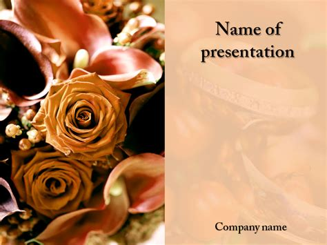 Wedding Celebration Powerpoint Template For Impressive Powerpoint Wedding Templates
