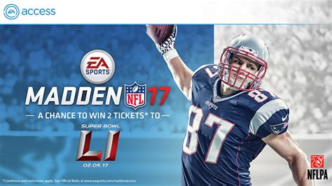 Super Bowl 51 Sweepstakes - ea access to the super bowl