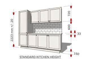 Height Of Kitchen Cabinet Standard Dimensions For Australian Kitchens Renomart