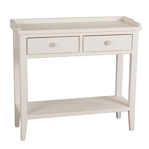 White Console Table Privilege White Wood And Metal Accent Three Drawer Console Table