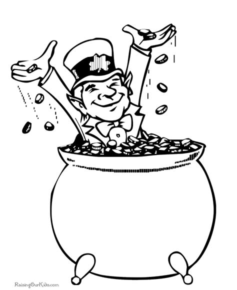 pot of gold coloring pages printable coloring pages