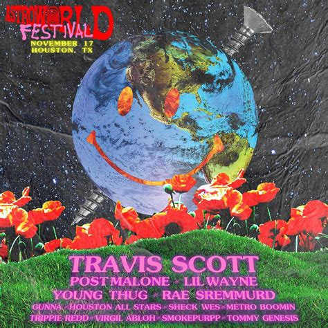 sheck wes houston travis scott s astroworld lineup post malone lil wayne