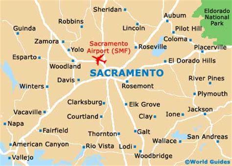 map of sacramento area sacramento travel guide and tourist information