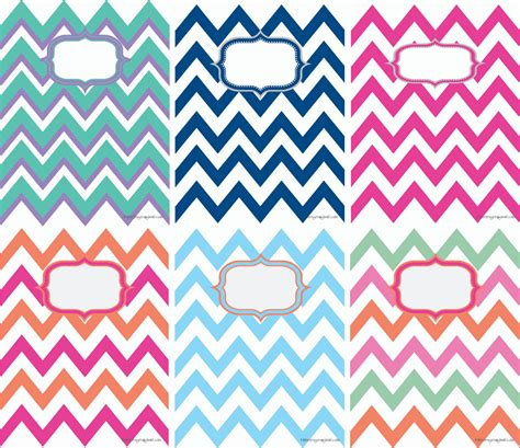 Chevron Cover by Printable Chevron Binder Covers