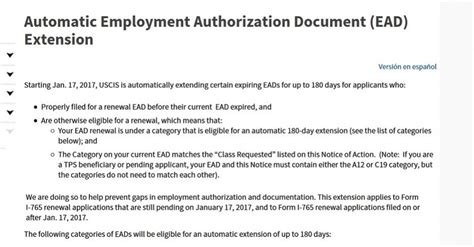 Letter Template To Uscis For Lost Ead Card by Must Read Automatic Employment Authorization Document