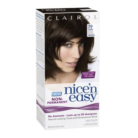 non ammonia hair dye brands clairol nice n easy non permanent hair color 79 dark