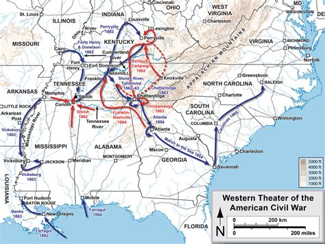 us map at time of civil war western theater of the american civil war