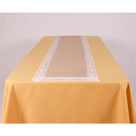 burlap table runner with lace burlap table runner with lace 13 in x 72 in