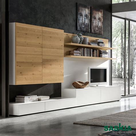 muebles salon modernos blanco mueble de sal 243 n moderno blanco madera gs020 muebles