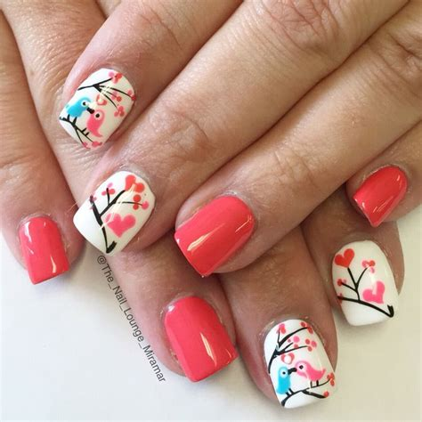 ideas  valentine nail designs  pinterest