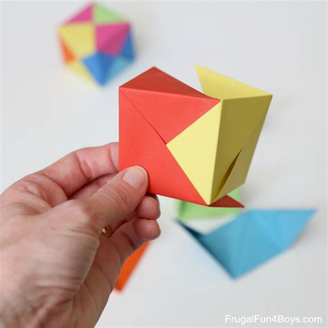 Folding Paper Into A Cube - how to fold origami paper cubes frugal for boys and