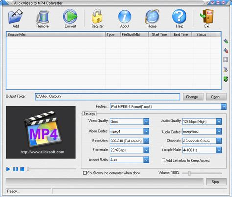 converter dvd to mp4 allok video to mp4 converter convert avi to mp4 mpeg to