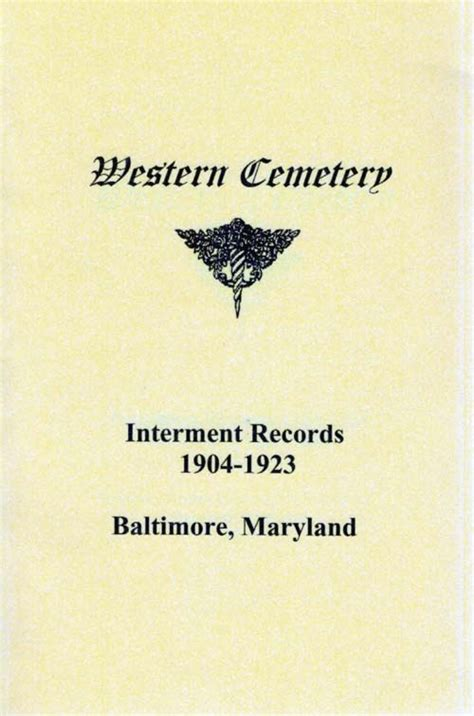 Baltimore City Records Publications For Sale