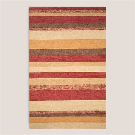 Red Striped Indoor Outdoor Rug World Market Striped Outdoor Rugs