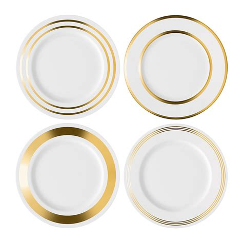 gold dining set plates buy lsa international deco assorted gold dinner plate
