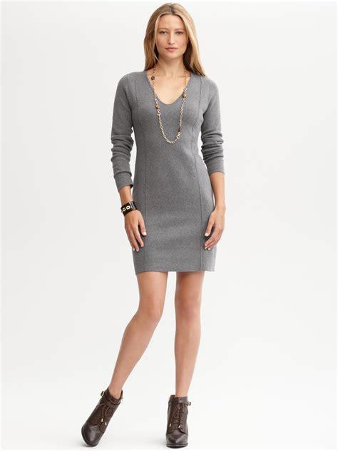 Sweater Dress Ii by Banana Republic V Neck Sweater Dress In Gray Gracious