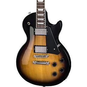 Gitar Gibson Lp Black Sunburst Alnico Baru gibson les paul studio 2018 electric guitar vintage sunburst black pickguard musician s friend