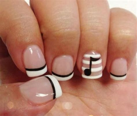 easy nail art french manicure 40 simple nail designs for short nails without nail art