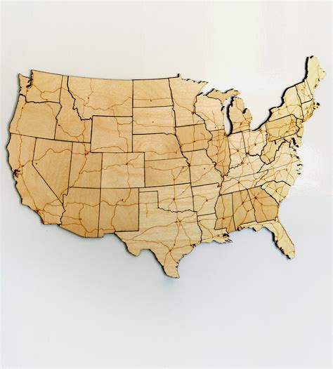 woodworking usa interstate highways magnetic wood usa puzzle