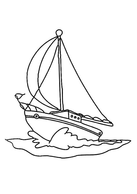 Free Coloring Pages Of A Simple Boat Boat Colouring Pages