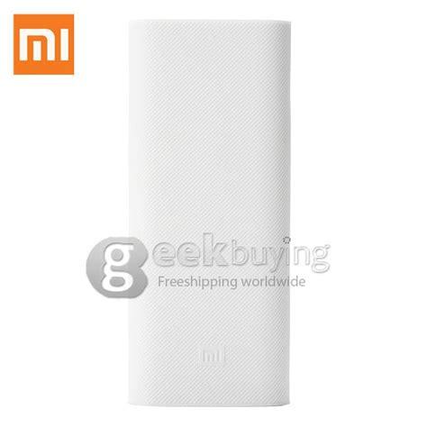 Silicon Cover Xiaomi Powerbank 16000 Mah Original White xiaomi 16000mah power bank silicone charger protector cover skin