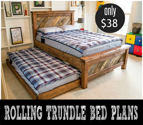 how to build a trundle bed diy rolling trundle bed plans infarrantly creative