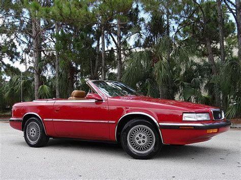 Chrysler Lebaron Maserati by 1989 Chrysler Maserati Tc No Reserve Turbo Low 28k