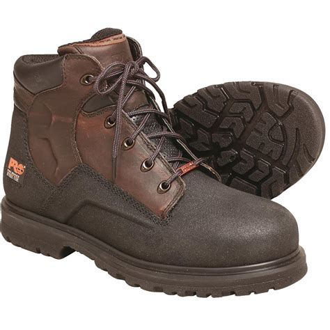 steel toe work boots timberland pro powerwelt 6 quot h steel toe leather work boots
