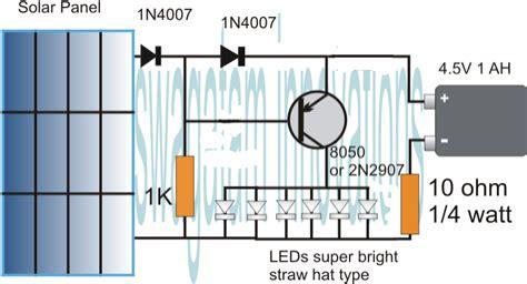simplest automatic led solar light circuit solar garden