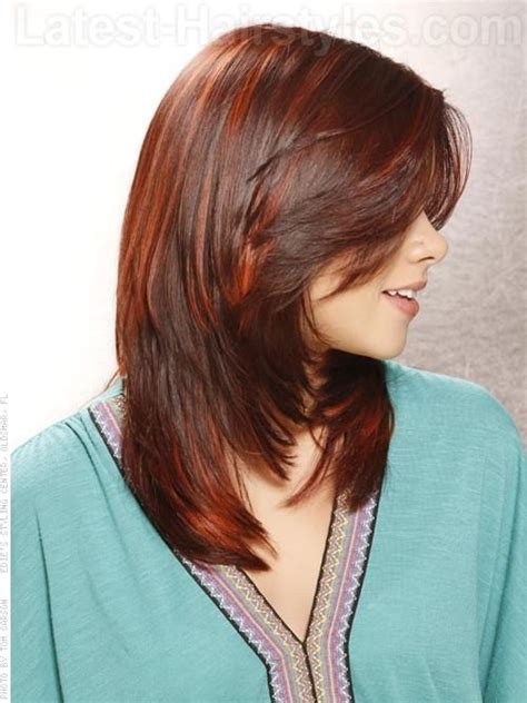 hairstyles with bangs longer than back cute layered haircuts for long hair with side bangs back