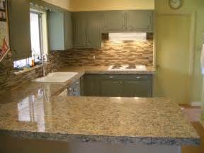 Granite Kitchen Backsplash Kitchen Granite Tile Countertop And Glass Backsplash
