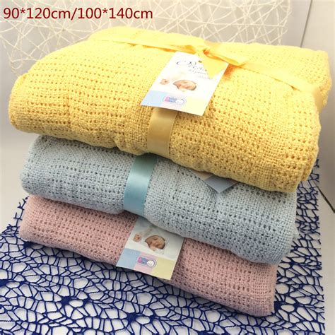 100 Cotton Baby Blanket new 100 cotton baby blanket knitted breathable props