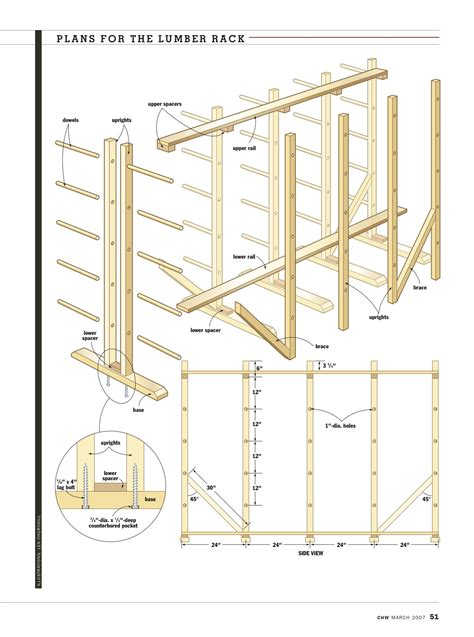 Rack Plan by Outdoor Lumber Rack Plans Plans Diy Free Plans A