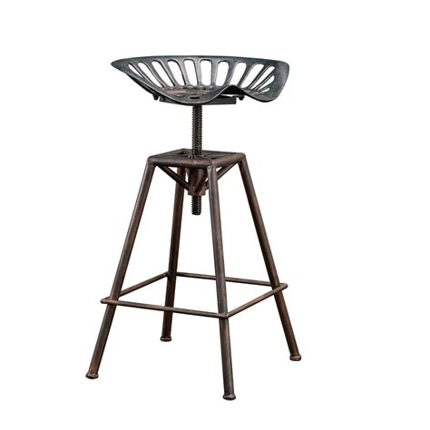 Iron Tractor Seat Bar Stools by Tractor Seat Bar Stools Swivel Rustic Metal Iron Counter