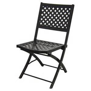 Folding Metal Patio Chairs Woven Metal Folding Patio Chair Threshold Target