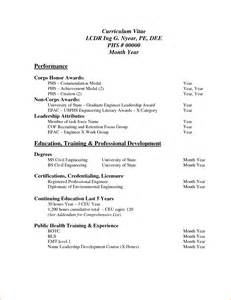 Resume Samples In Pdf by 8 Sample Of Curriculum Vitae For Job Application Pdf