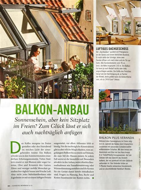 Zuhause Wohnen by Zuhause Wohnen Heft 6 2015 Bonda Balkon Und Glasbau Gmbh