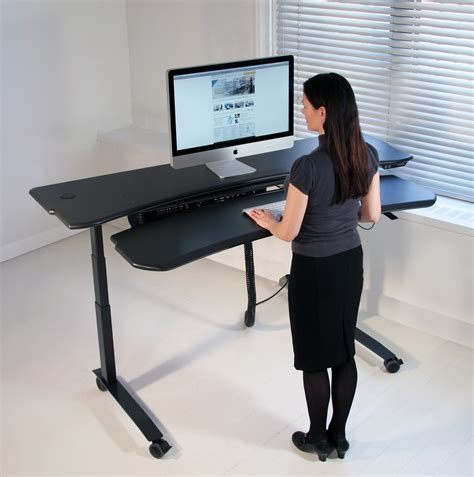 Dual Desk Office Ideas dual surface flexo level3 standing desk with motorized or