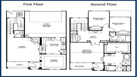 Two Story Two Bedroom House Plans by 2 Story Master Bedroom 2 Story 3 Bedroom Floor Plans 2