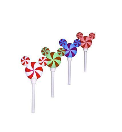 disney light pathway mickey ears light pathway stakes s 4 peppermint mickey ears