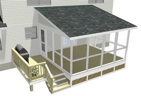 Roof Deck Plan Foundation This Perry Ga Screened Porch Refurbish Solved Lots Of