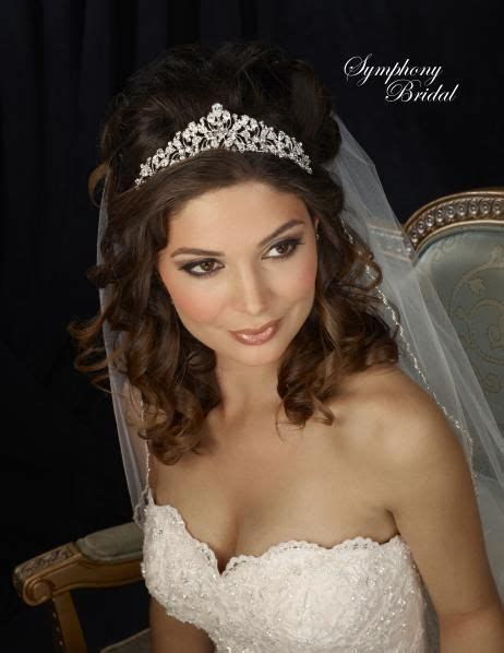 Bridal Hairstyles Half Up With Tiara by Wedding Hair With Tiara Www Pixshark Images