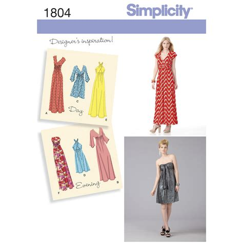 Free Catalog Request Home Decor by Pattern For Misses Knit Dresses Simplicity