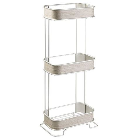 Free Standing Bathroom Shelves Interdesign Realwood Free Standing Bathroom Storage Shelves Import It All