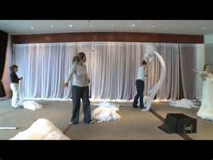 how to drape a wall with fabric the retreat sheer fabric on a grand scale