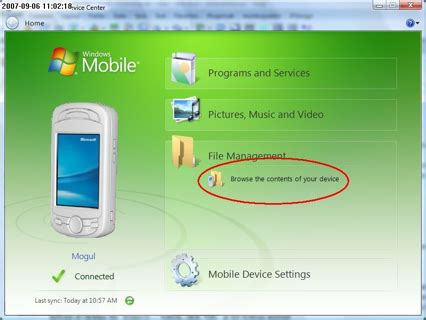 mobile device center how to install uninstall and transfer files on windows