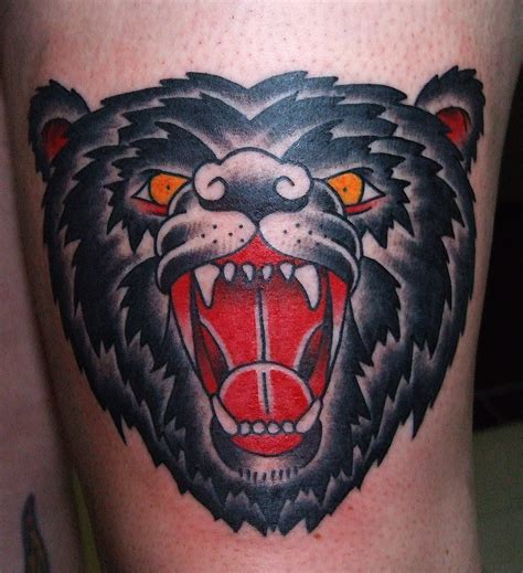 bear head tattoo photo 1 ideas