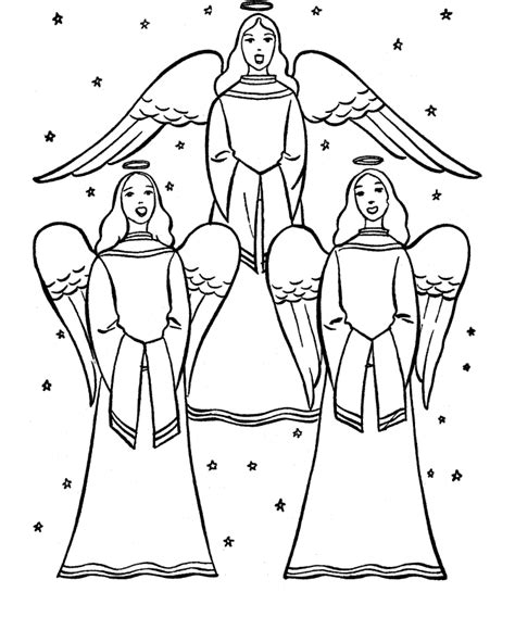 coloring pages angels singing christmas angels coloring page coloring home