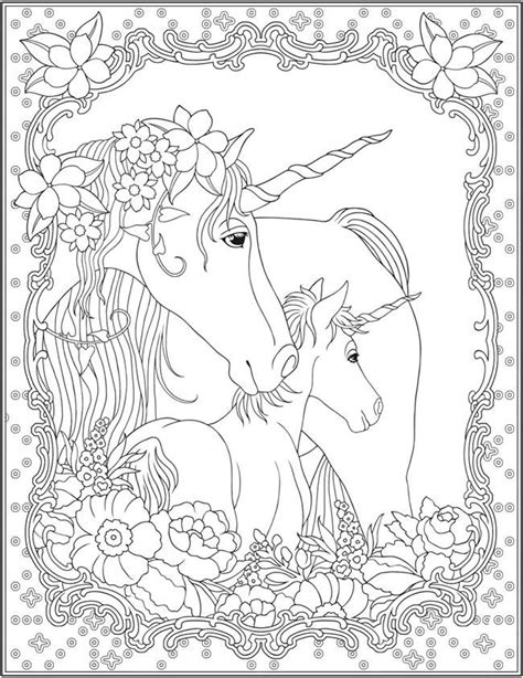 unicorn coloring pages for adults free unicorn coloring page unicorn magic pinterest
