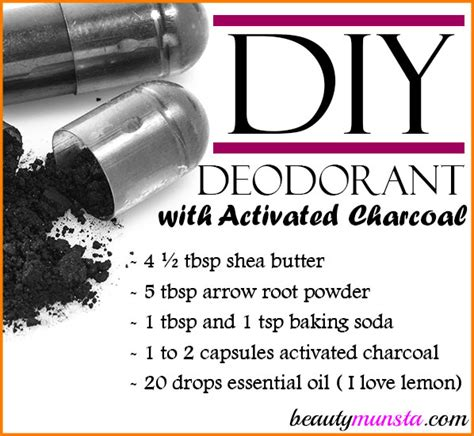 Activated Charcoal Armpit Detox Diy by Diy Deodorant With Activated Charcoal Beautymunsta